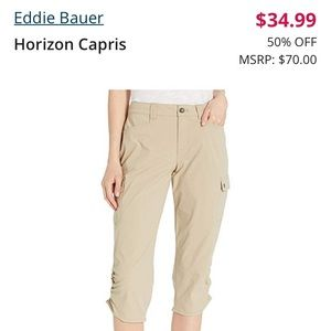 Eddie Bauer Hiking / Travel Capri Pants